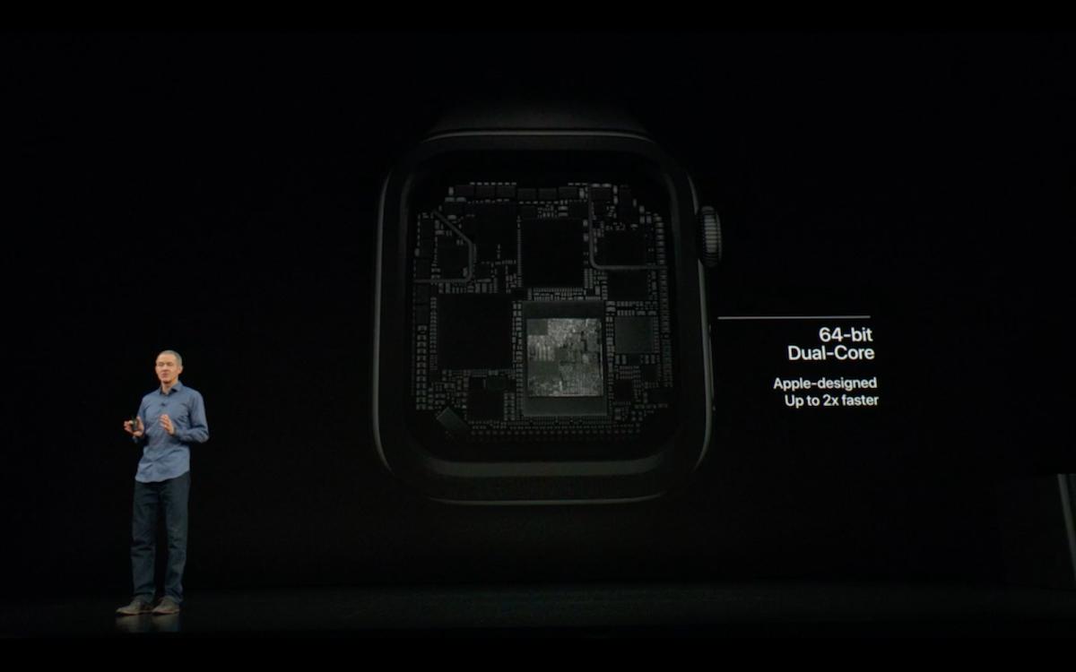 Apple Watch S4 . имеет лучший процессор, нежели у предыдущей модели