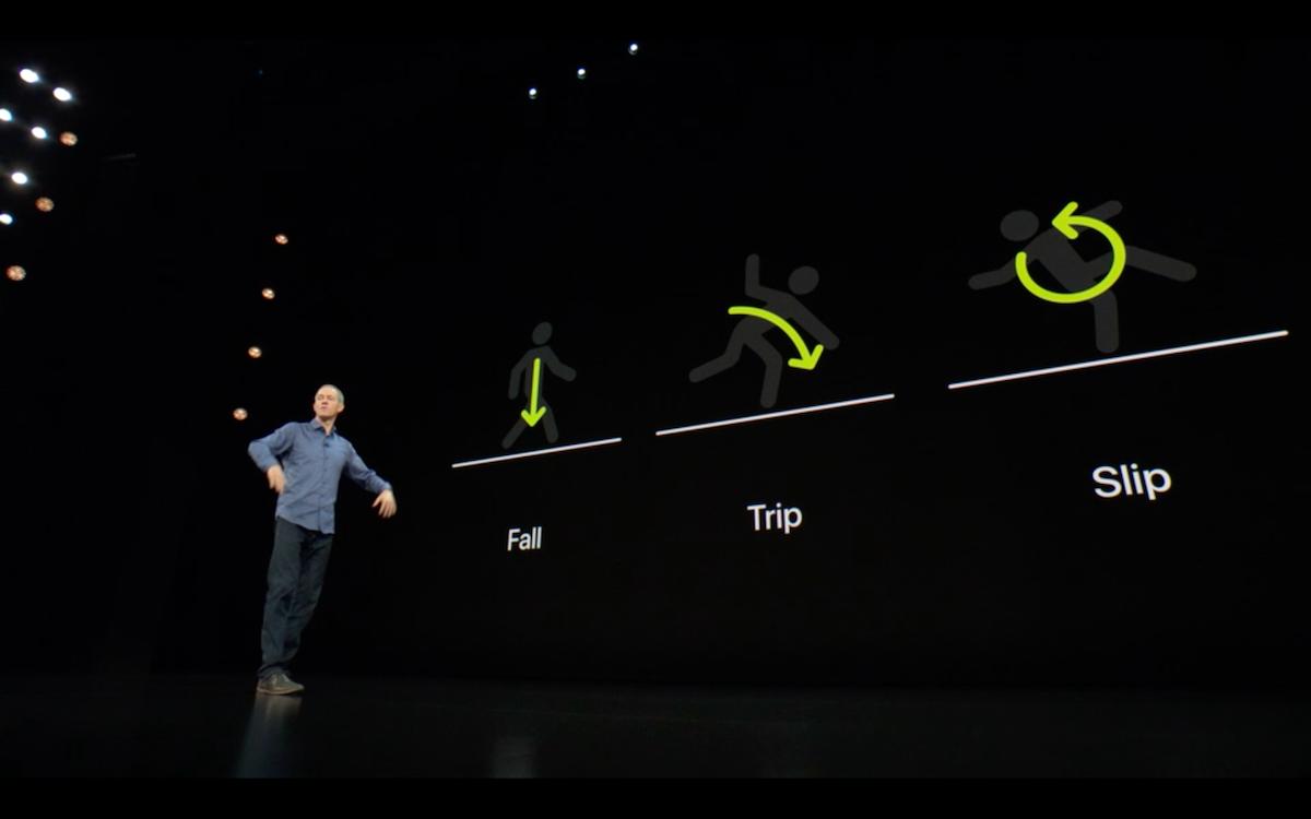 Apple Watch S4 чувствует, если вы упали