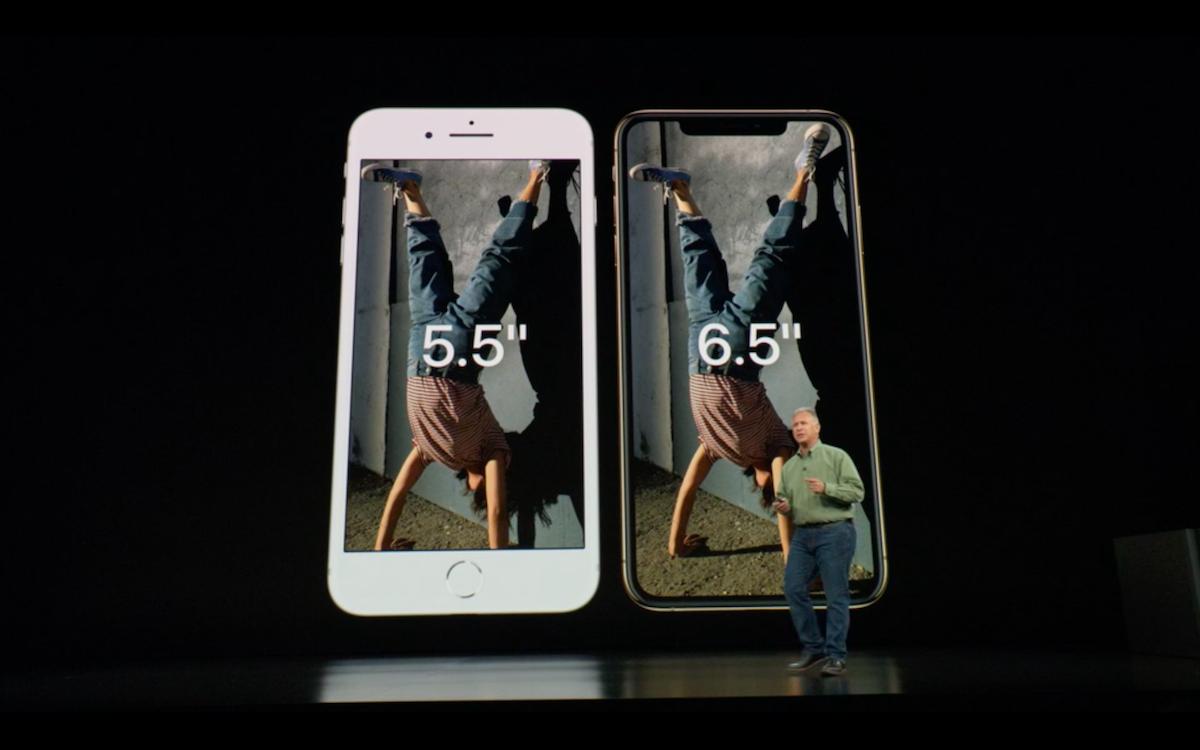 Сравните размеры iPhone XS Max с предыдущей моделью