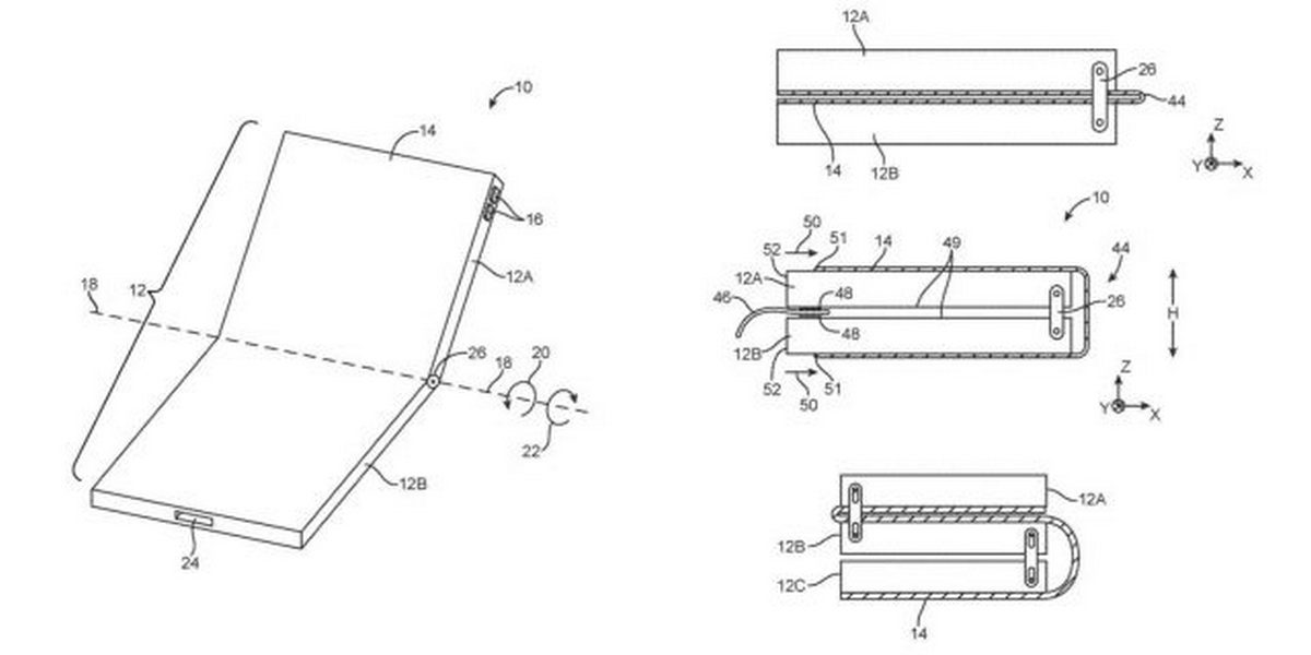 Apple запатентовала новый гибкий iPhone