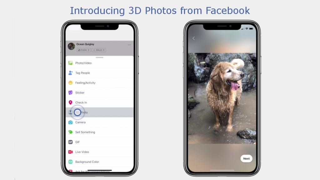 В Facebook владельцы последних iPhone могут создавать 3D фото