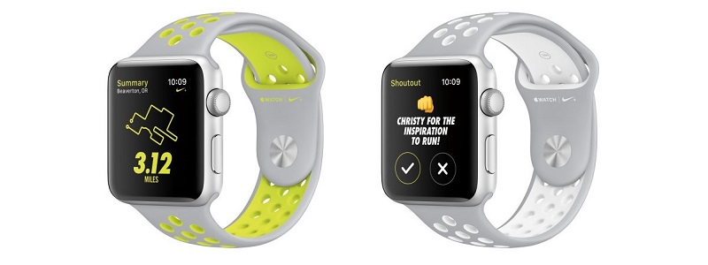 Белые часы Nike от Apple Watch