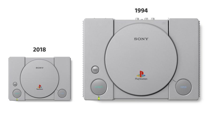 Новая консоль на 45% меньше оригинальной PlayStation 1994 года