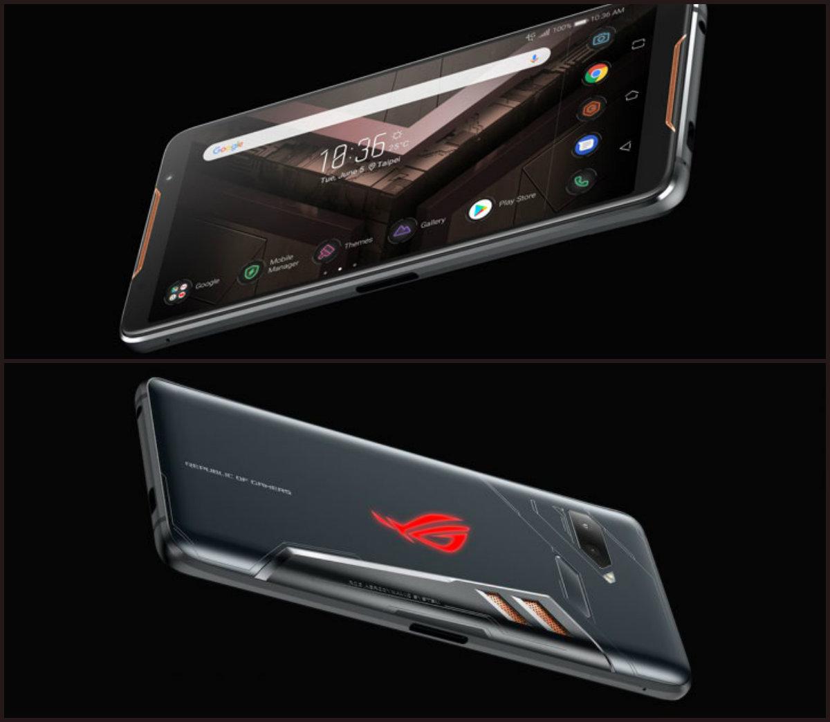 Вид геймерского смартфона Asus ROG
