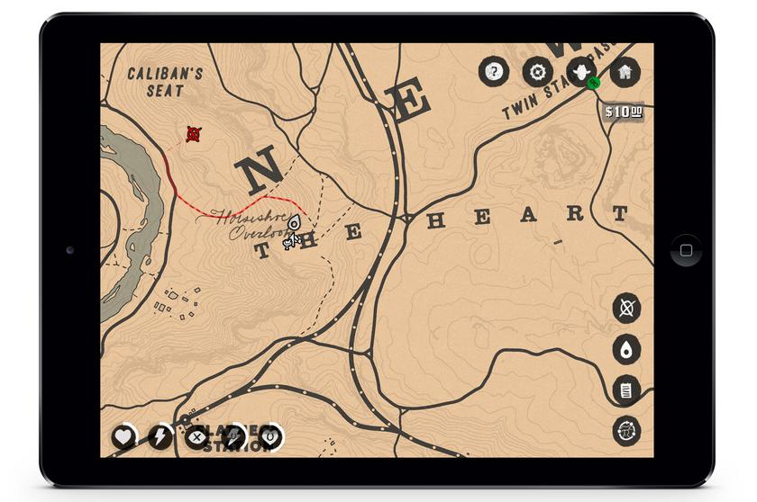 Приложение-компаньон Companion App, которое заменяет игрокам карту