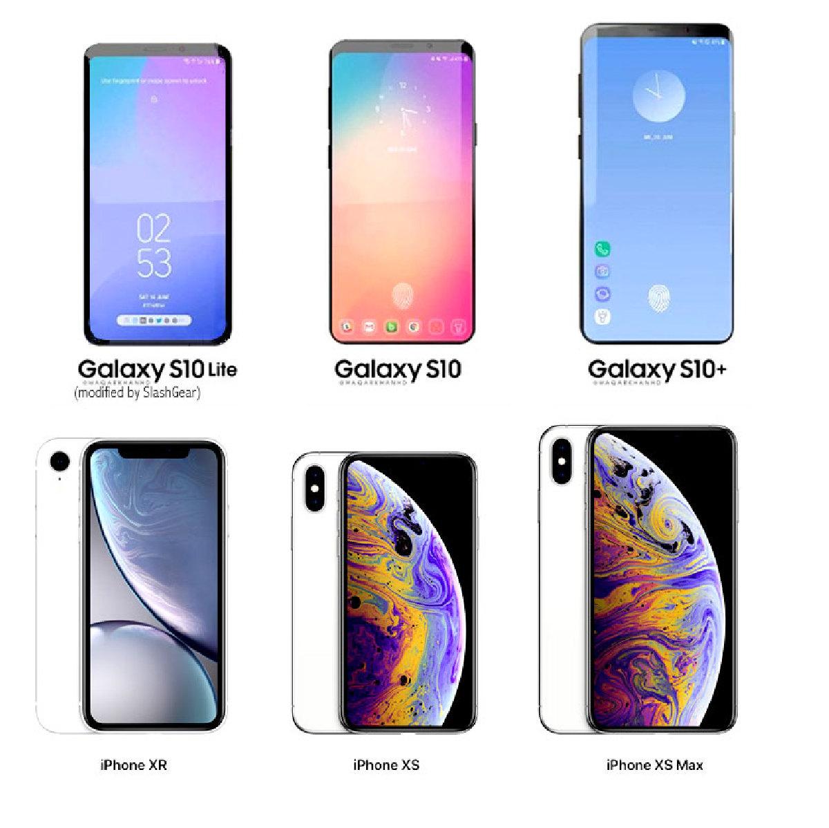 Соответствие моделей Galaxy S10 новым моделям iPhone