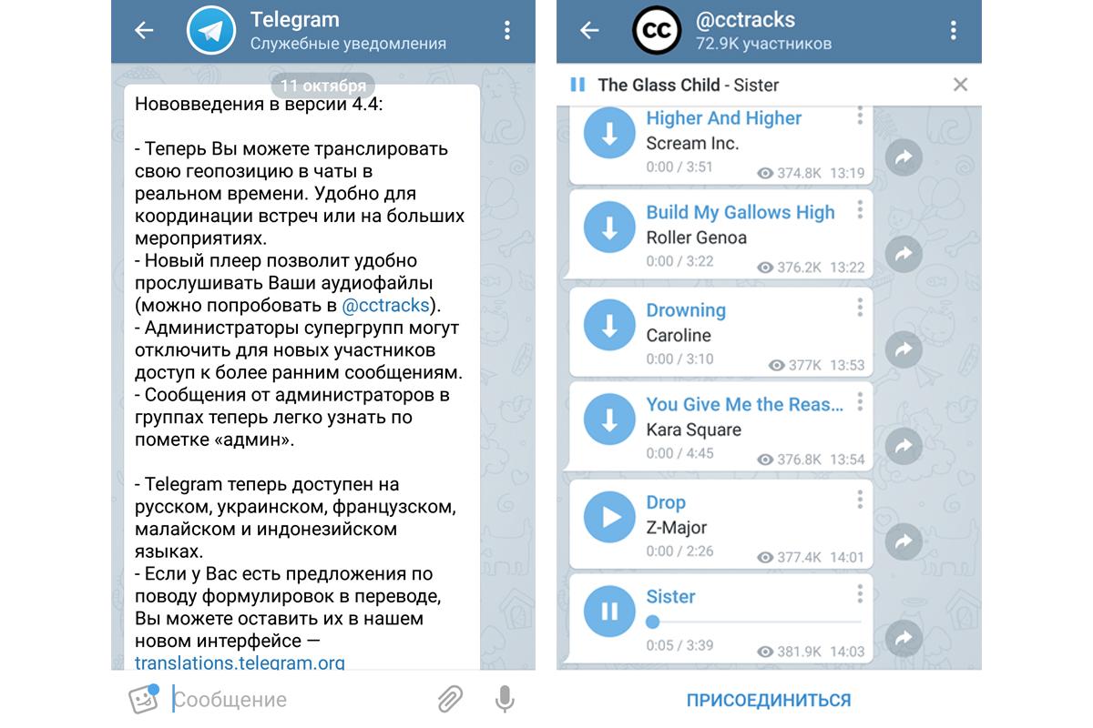 Telegram в качестве персонального плеера