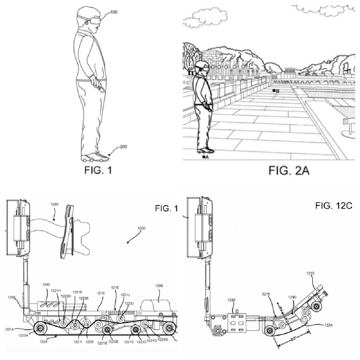 Схема обуви для VR от Google