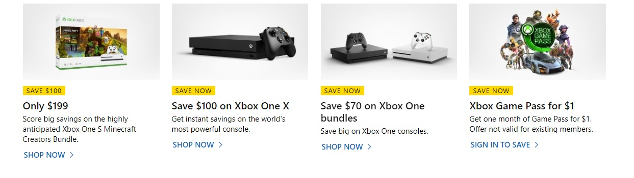 Скидки на Xbox в Microsoft Store