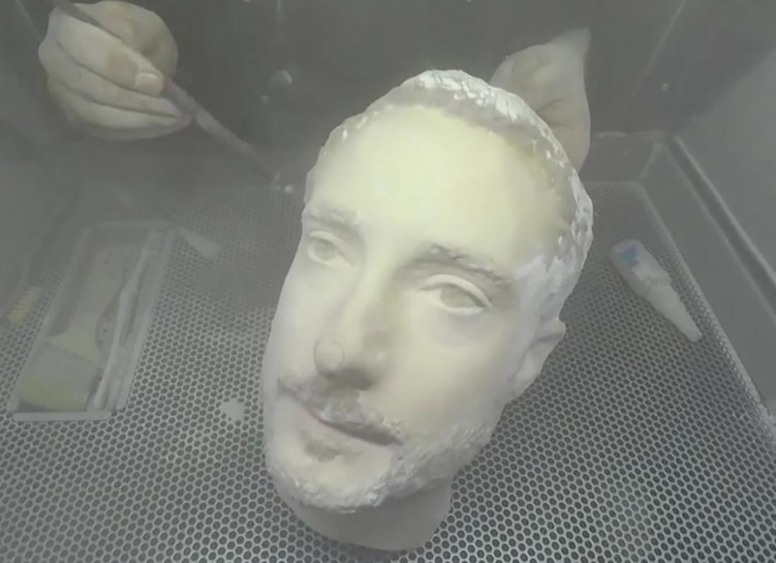 Трехмерная модель головы журналиста Forbes