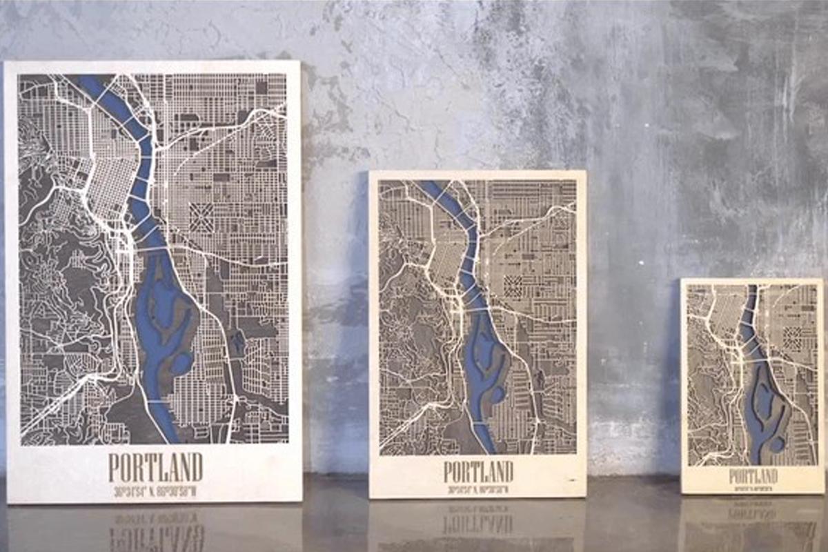 EnjoyTheWood собрали более $56 500 на деревянные 3D-карты городов мира