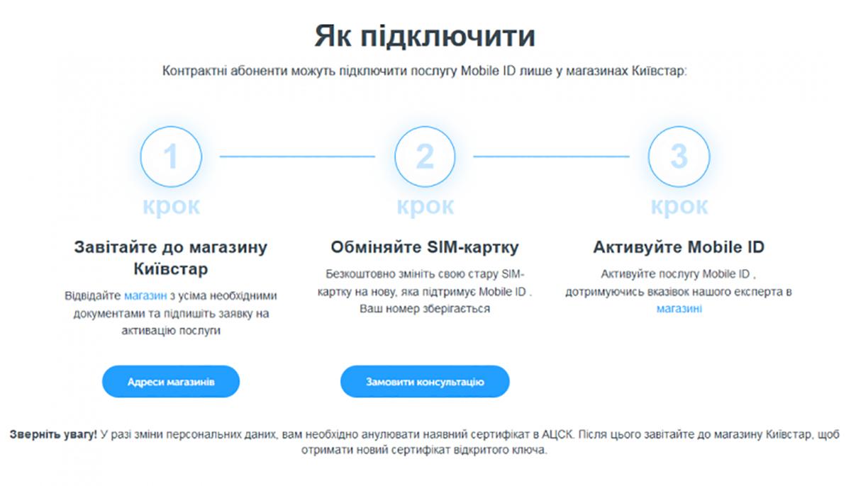 Киевстар уже активно подключает к платформе Mobile ID новые услуги
