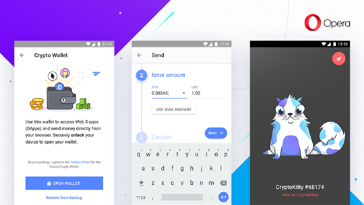 Теперь пользователи могут хранить криптовалюту в Opera