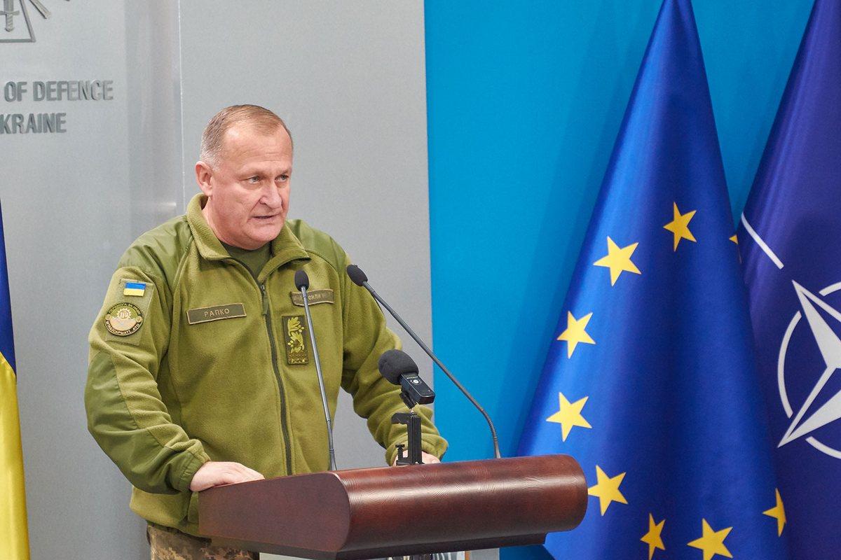 Начальник Главного управления связи и информационных систем Генерального штаба Вооруженных Сил Украины генерал-майор Владимир Рапко
