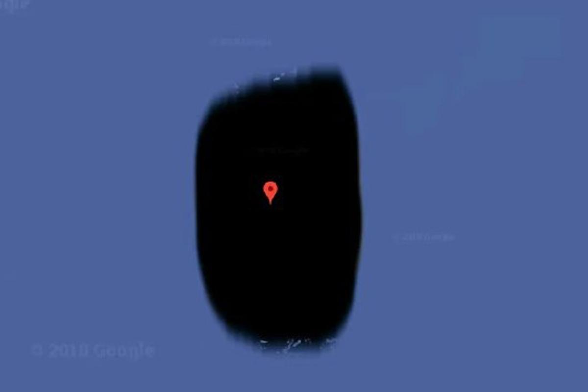 Остров Жаннеты полностью мрачный