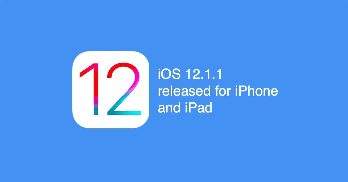 iOS12.1.1 - окончательная версия последней ОС от Apple