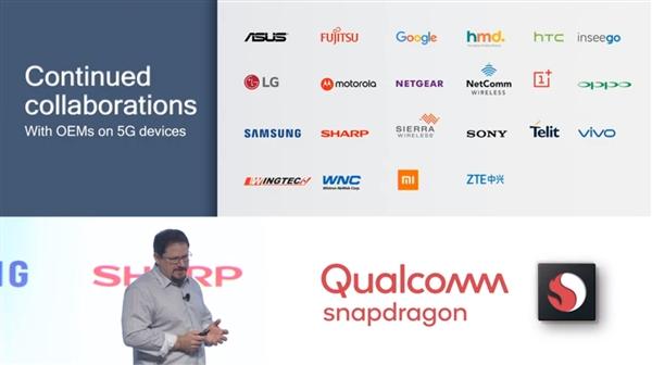 Список всех компаний на презентации нового чипа от Qualcomm