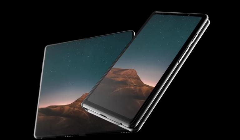Возможный вид на новый смартфон-трансформер от Samsung
