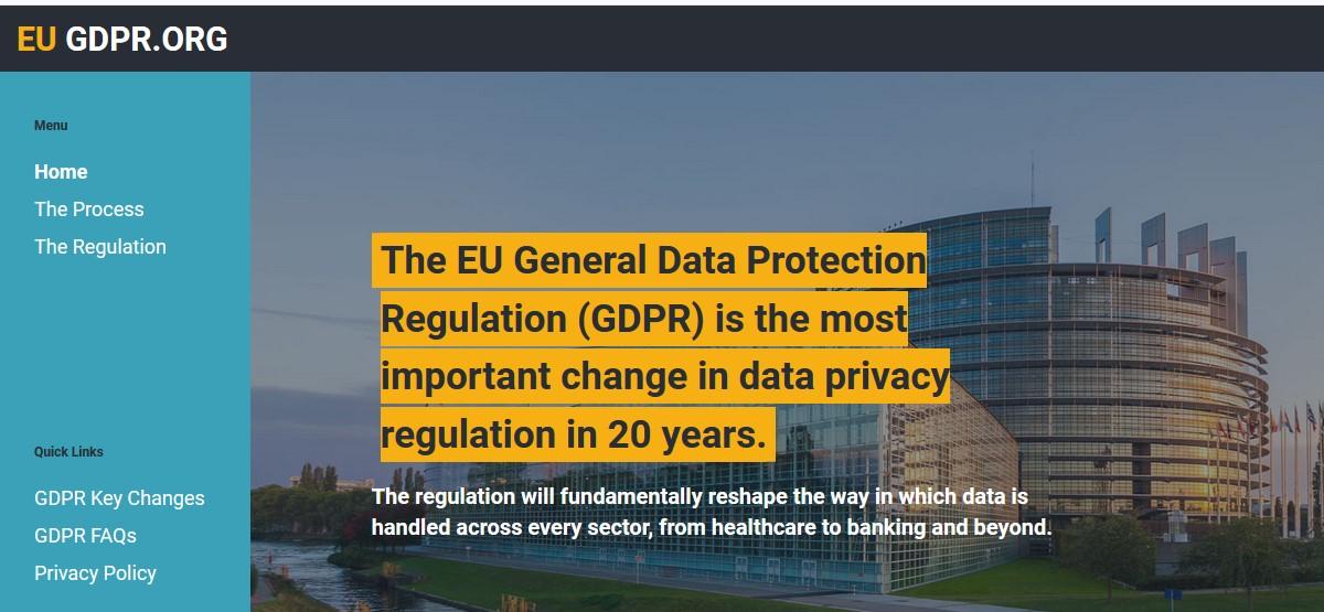 В 2018 году в Европейском союзе внедрили Общий регламент о защите данных (GDPR)