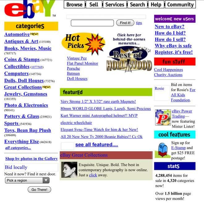 Красочные сайты выглядели как новогодняя елка