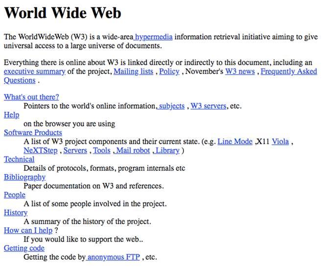 Сайты были настолько простыми, насколько можно себе представить
