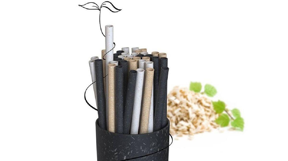 Финская компания-стартап Sulapac в сотрудничестве с компанией Stora Enso представила свой концепт деревянных трубочек для питья