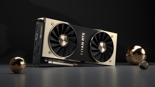 Общий вид на Nvidia Titan RTX
