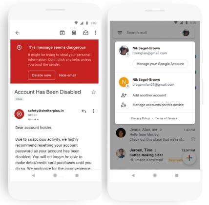Редизайн и новая функция в Gmail