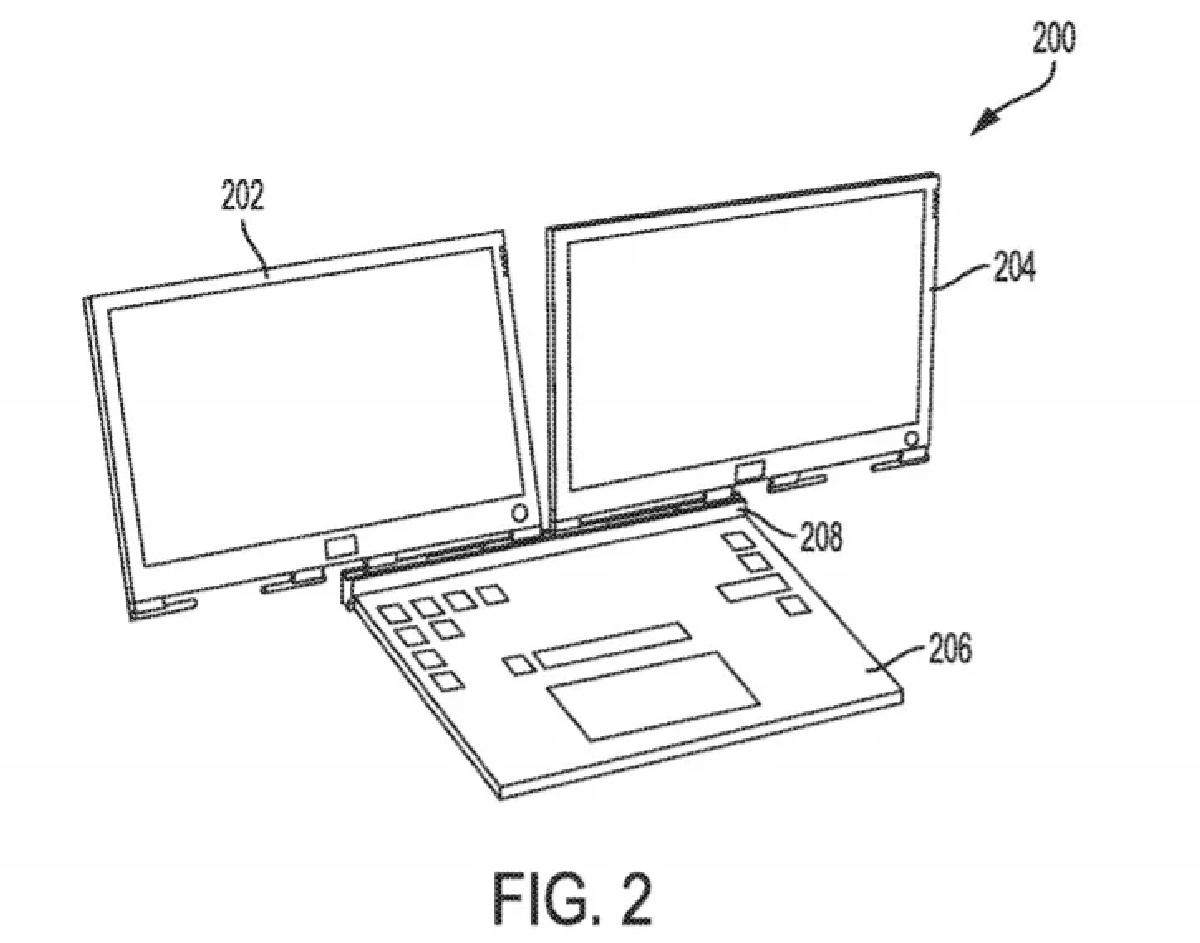 В сложенном состоянии оба экрана будут находиться по разные стороны от основного блока с начинкой и клавиатурой
