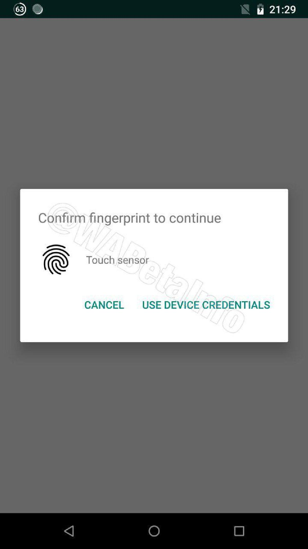 Просмотреть сообщения можно будет после подтверждения личности отпечатком пальца