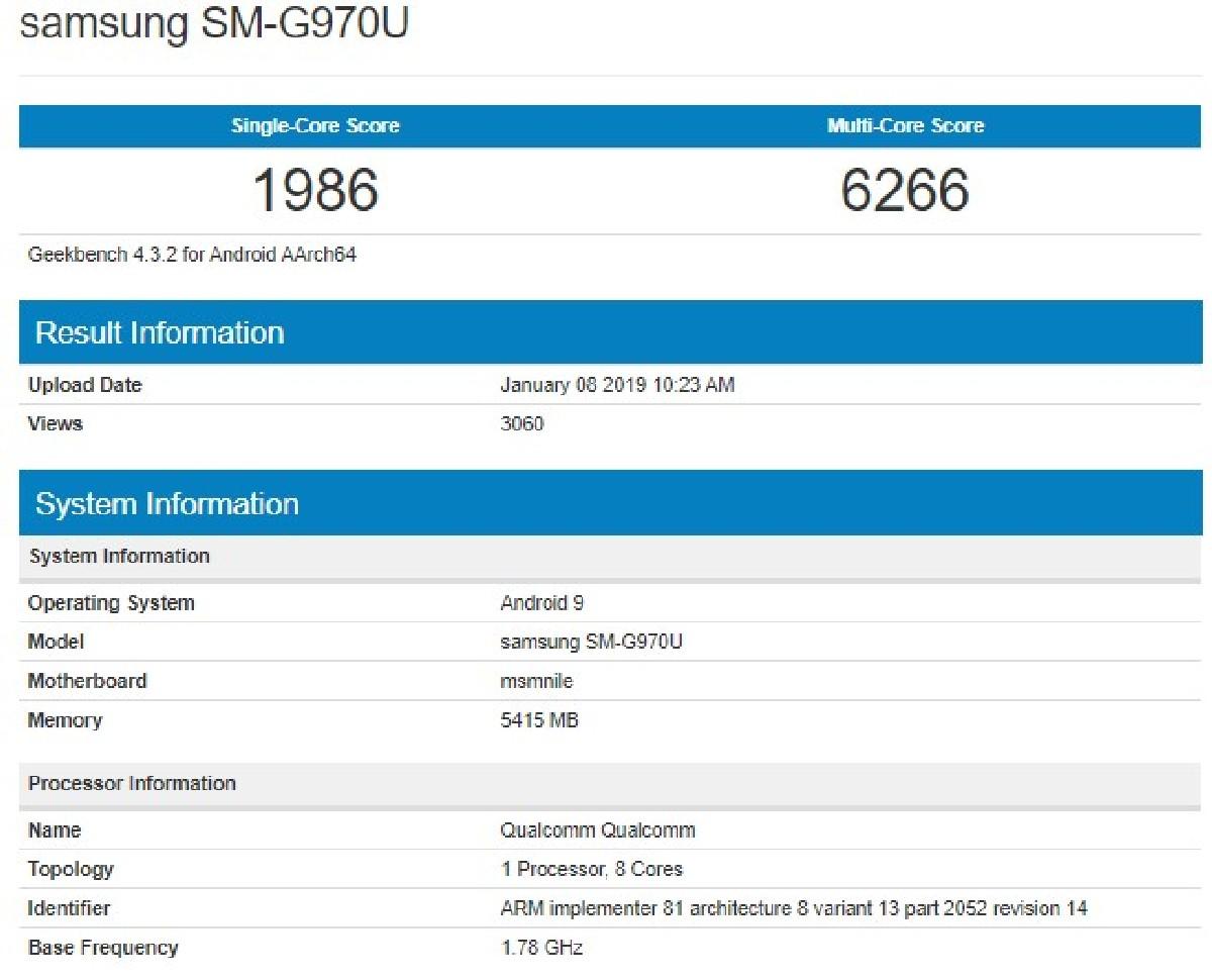 В базе данных популярного теста производительности Geekbench засветился новый флагманский смартфон Samsung