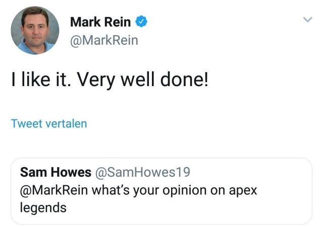 Удаленный твит Марка Рейна