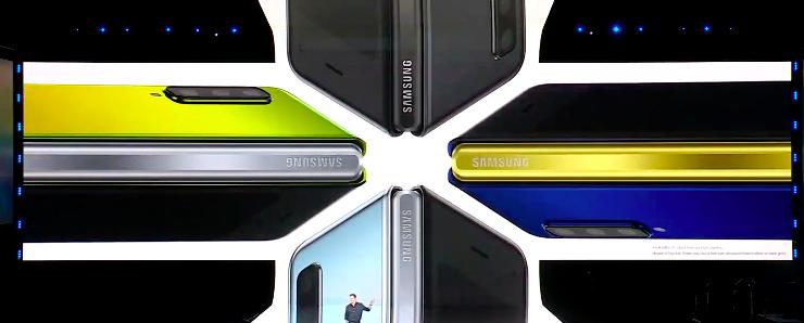 Складной смартфон будет продаваться в нескольких цветах