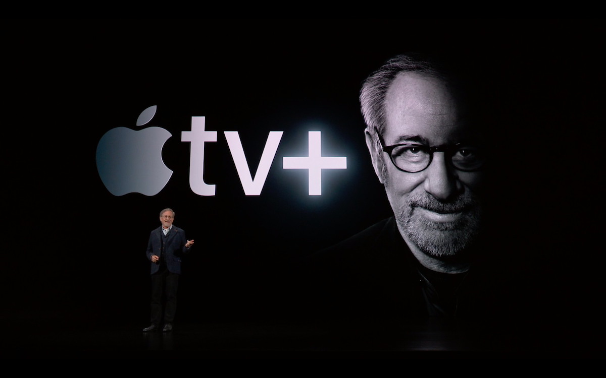 Сам Стивен Спилберг вышел представлять эксклюзивные шоу и фильмы от Apple