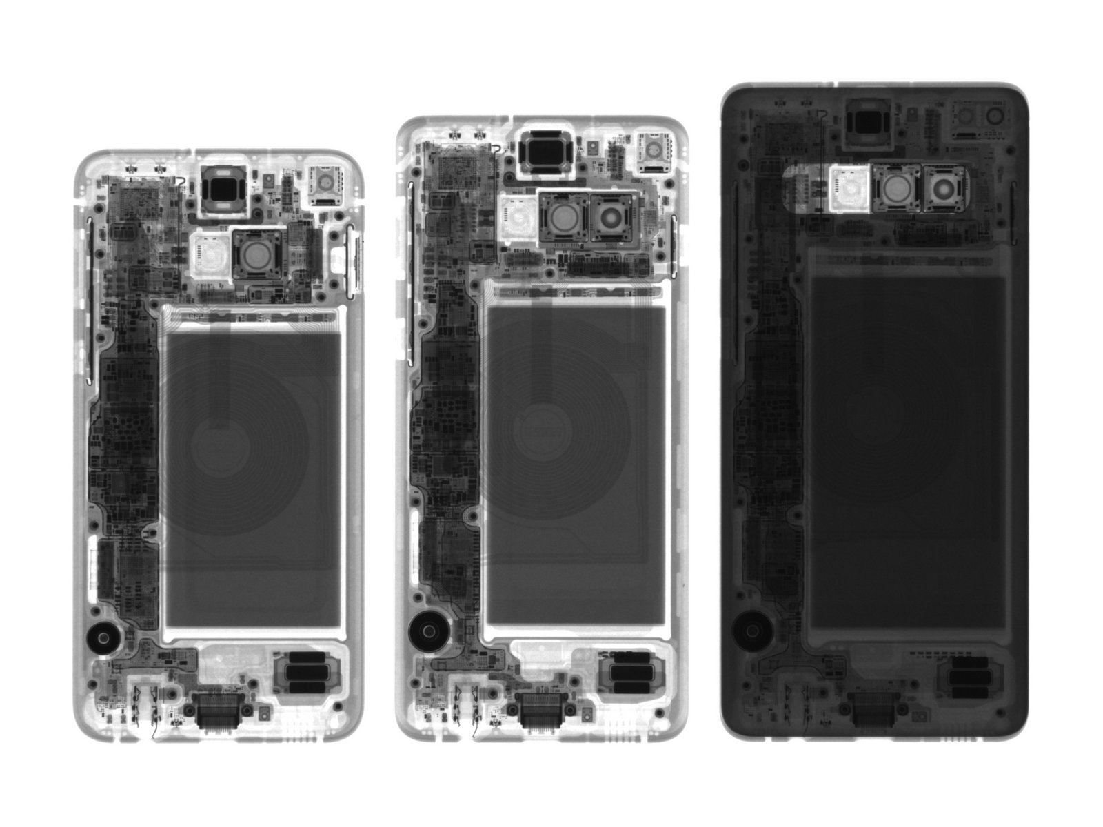 Samsung Galaxy S10 разобрали на кусочки