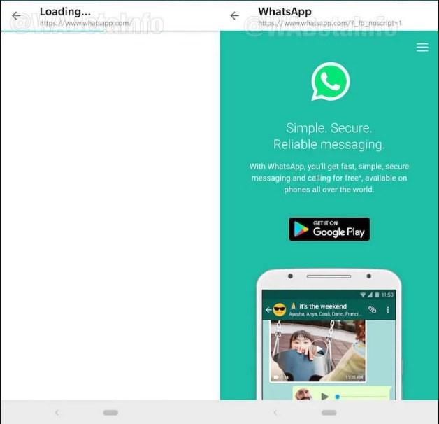 Первая функция позволяет загружать веб-страницы по ссылке из сообщения прямо внутри приложения