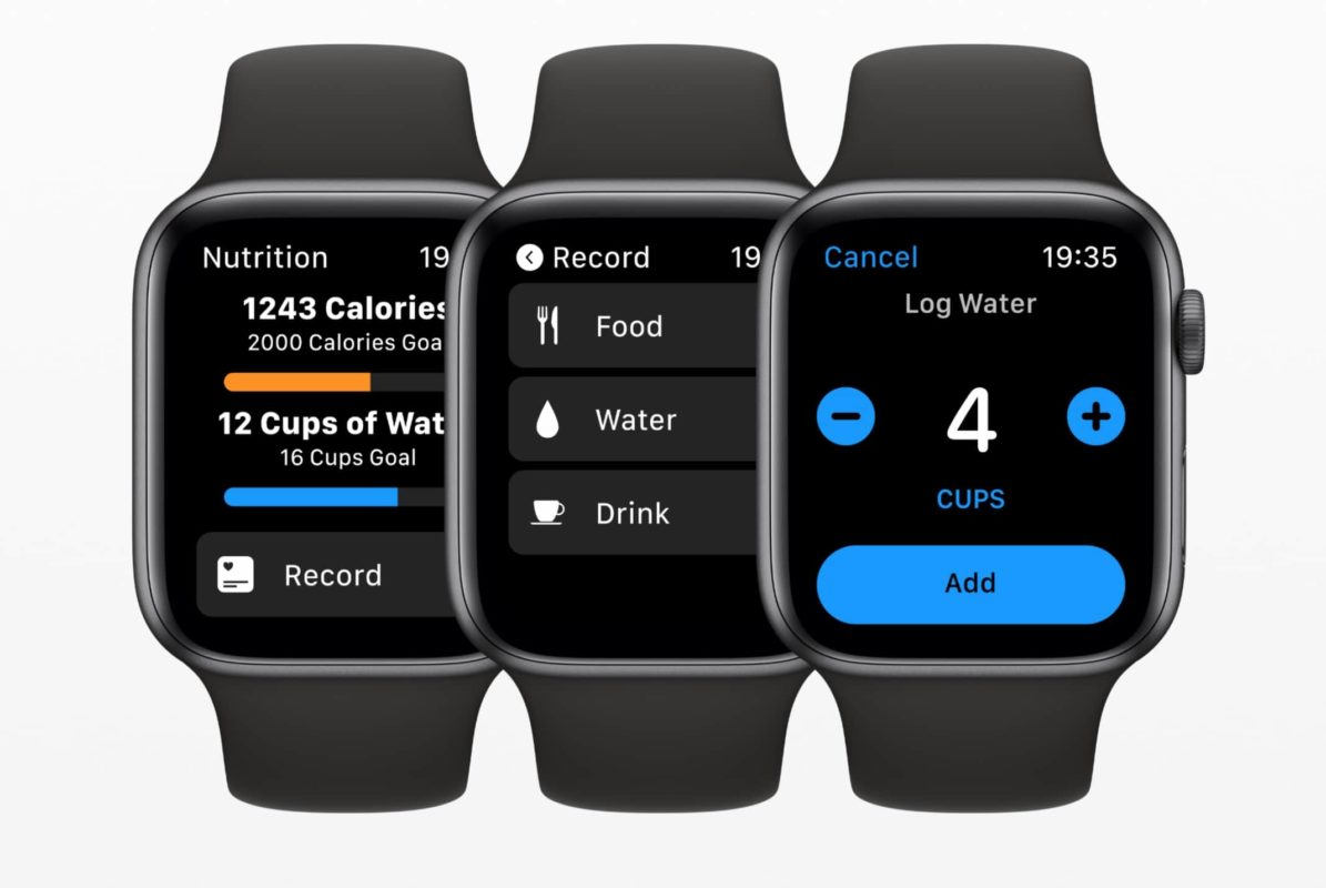 Nutrition app for watchOS 6