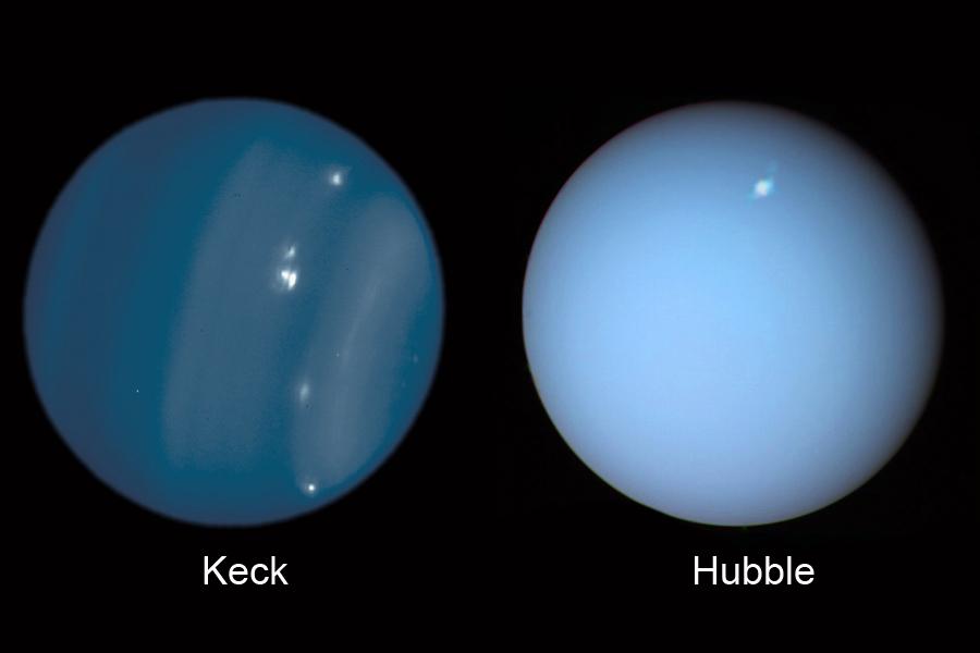 Сравнение Keck и Hubble