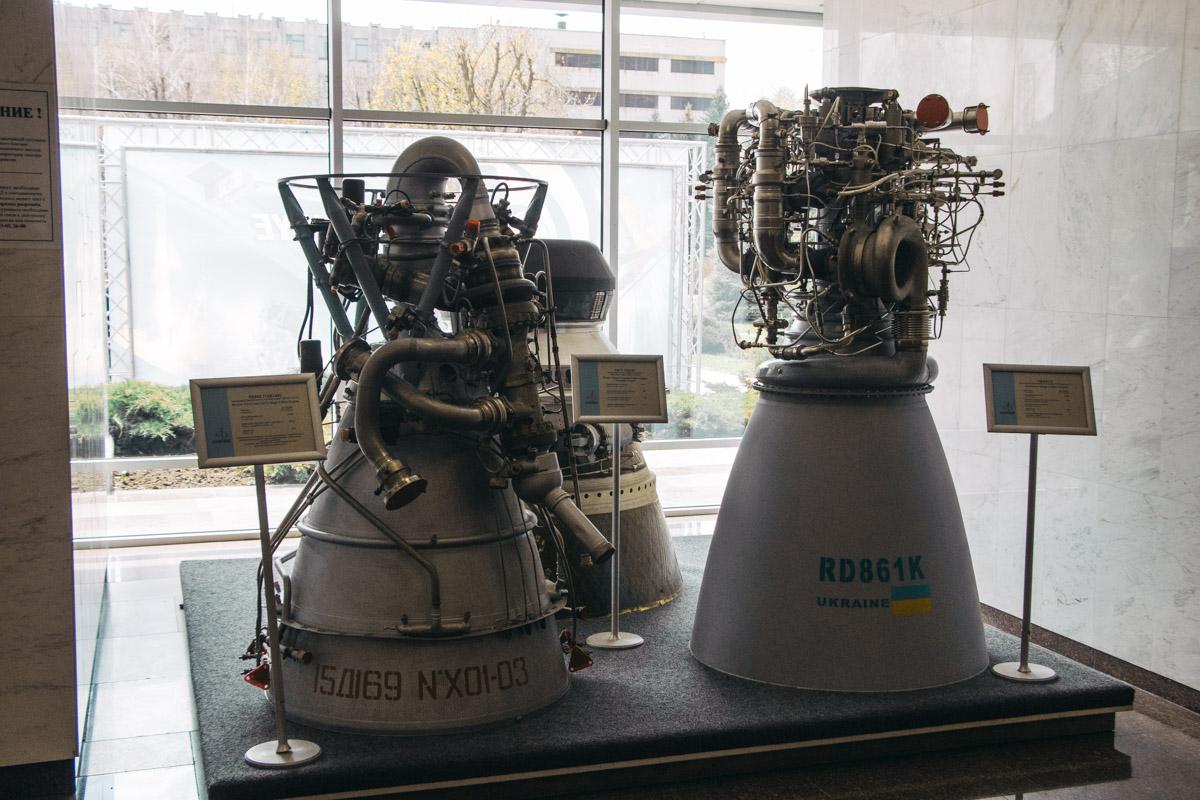 Жидкостные ракетные двигатели, в которых используются данные детали