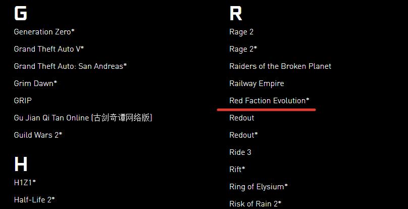 NVIDIA упомянулиRed Faction Evolution