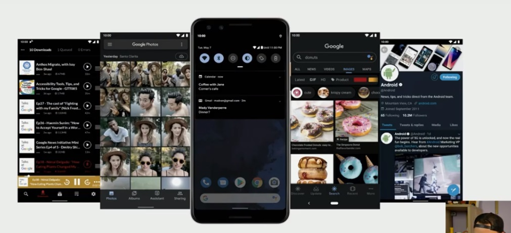 Темная тема Android Q