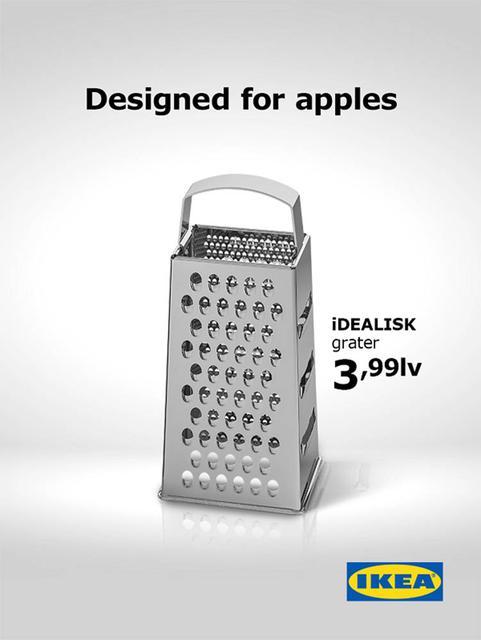 IKEA очень тонко сделала рекламу: надпись «создано для яблок»