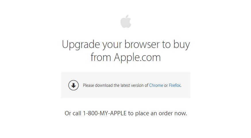 Обойти ограничение, воспользовавшись сторонним браузером, не выйдет