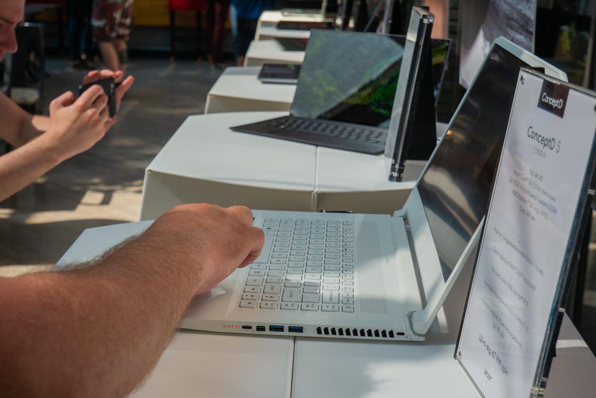 ConceptD 5 работает на процессоре Intel Core i7 восьмого поколения