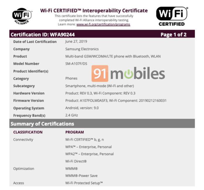 Сейчас смартфон получает сертификацию Wi-Fi