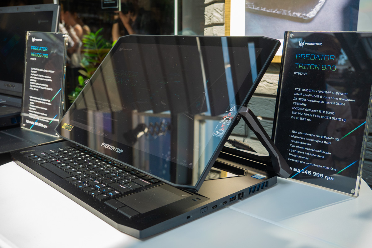 Predator Triton 900 также имеет графический ускоритель Nvidia GeForce RTX 2080