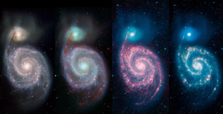 NASA показала, как выглядит галактика Вихрь