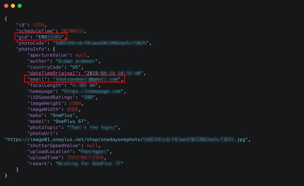 Скриншот кода в котором четко видна информация про пользователя