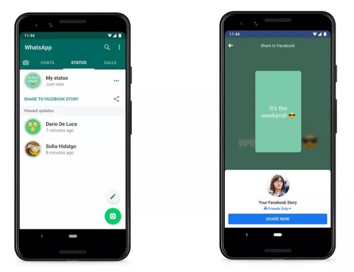 WhatsApp разрешит делиться «статусом» с другими приложениями