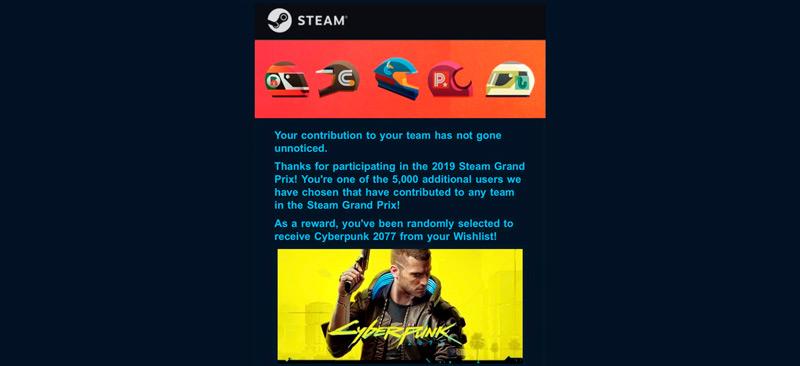 Объявление о бесплатной раздаче в Steam